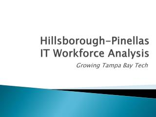 Hillsborough-Pinellas  IT Workforce Analysis
