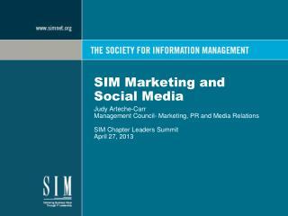 SIM Marketing and Social Media