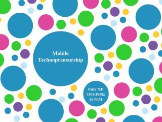 Mobile  Technopreneurship