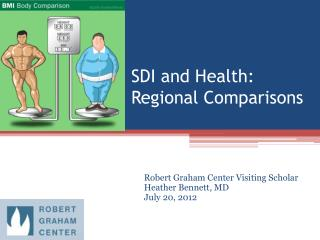SDI and Health:  Regional Comparisons