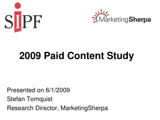 2009 Paid Content Study
