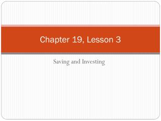 Chapter 19, Lesson 3