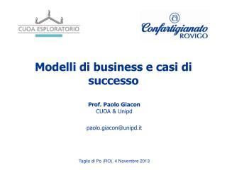 Modelli di business e casi di successo