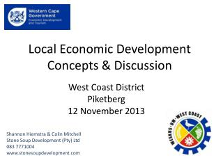 Local Economic Development Concepts & Discussion