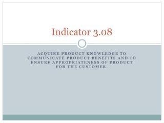 Indicator 3.08