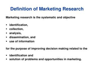 Definition of Marketing Research