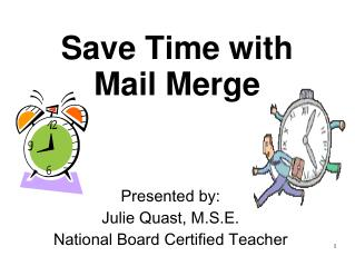 Save Time with Mail Merge