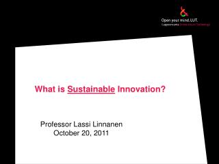 What  is  Sustainable Innovation ?