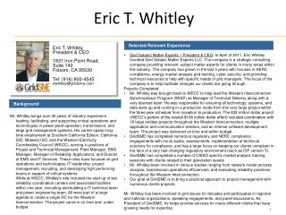 Eric T. Whitley