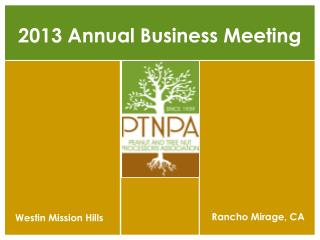 2013 Annual Business Meeting