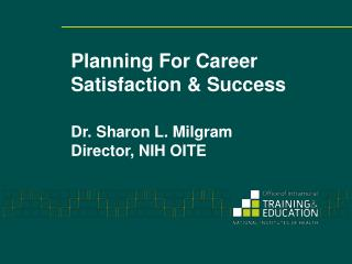 Planning For Career Satisfaction & Success