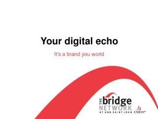 Your digital echo