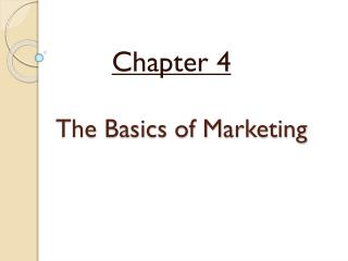 The Basics of Marketing