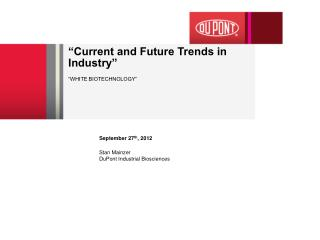 """Current and Future Trends in Industry"""