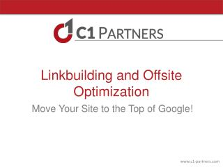 Linkbuilding and Offsite Optimization