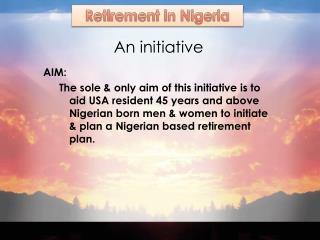An initiative
