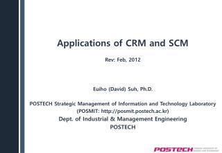 Applications of CRM and SCM