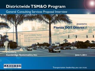 Districtwide TSM&O Program