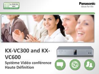 KX-VC300 and KX-VC600  Système Vidéo conférence  Haute Définition