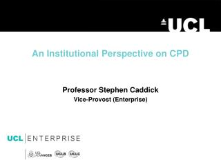 An  I nstitutional Perspective on CPD
