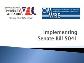 Implementing  Senate Bill 5041