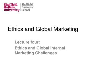 Ethics and Global Marketing