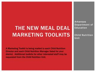 The New Meal Deal Marketing Toolkits