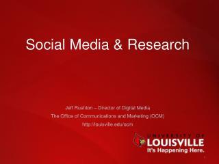 Social  Media & Research