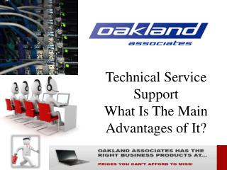 What is the main advantages of Technical Service Support ?