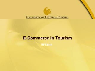 E-Commerce in Tourism