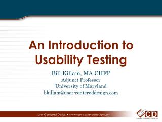 An Introduction to Usability Testing