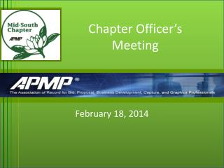 Chapter Officer's Meeting