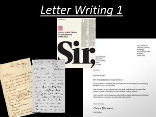 Letter  Writing 1