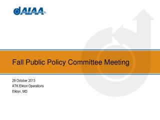 Fall Public Policy Committee Meeting