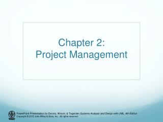 Chapter 2: Project Management