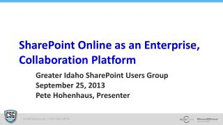 SharePoint Online as an Enterprise, Collaboration Platform