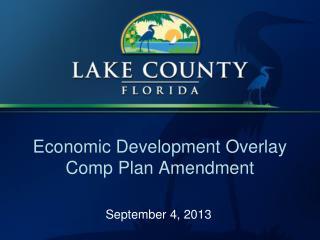 Economic Development Overlay Comp Plan Amendment