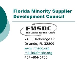 Florida Minority Supplier Development Council