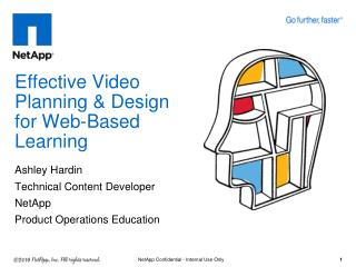 Effective Video Planning & Design for Web-Based Learning