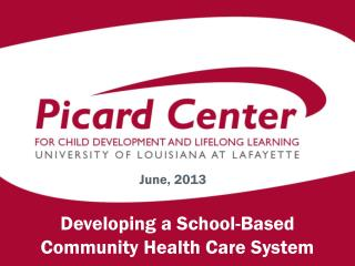 Developing a School-Based  Community Health Care System