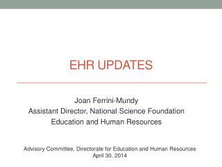 EHR Updates