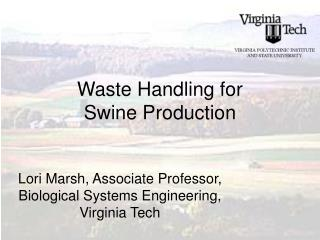 waste handling for swine production