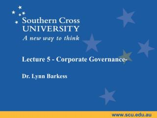 Lecture  5 - Corporate Governance-