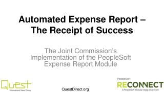 Automated Expense Report � The Receipt of Success