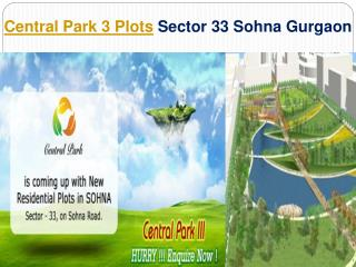 Central Park Plots 3 Gurgaon