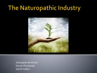 The Naturopathic Industry