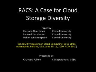 RACS: A Case for Cloud Storage Diversity