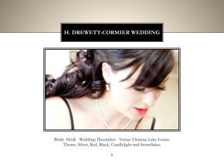 H. Drewett-cormier wedding