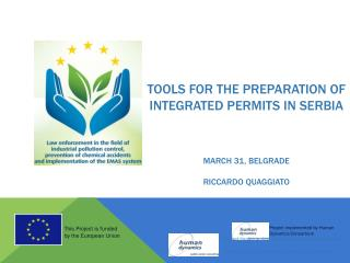 Tools  for  the preparation  of integrated permits  in  serbia march  31,  belgrade riccardo quaggiato
