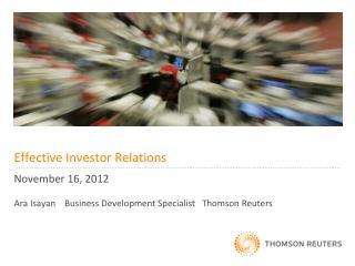 Effective Investor Relations